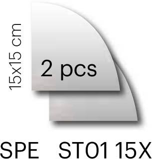 Specchio 15×15 1/4 tondo set 2 pz